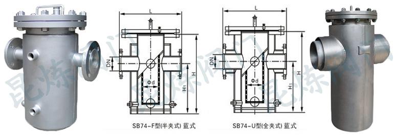 SB74篮式夹套保温过滤器结构图