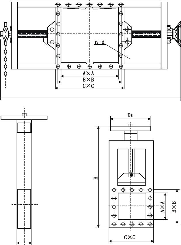 LMD方闸门/螺旋闸门结构图