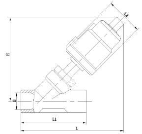 气动焊接角座阀