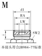 KHB液压球阀,KHM液压球阀,不锈钢液压球阀M连接口略图