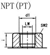 KHB液压球阀,KHM液压球阀,不锈钢液压球阀NPT连接口略图