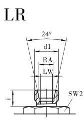 KHB液压球阀,KHM液压球阀,不锈钢液压球阀LR连接口略图
