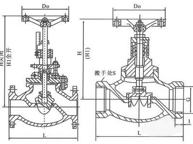 T40H手动调节阀结构图