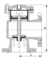 水位控制阀,液压水位控制阀,H142X水位控制阀结构图
