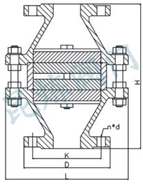 氢气阻火器外形尺寸
