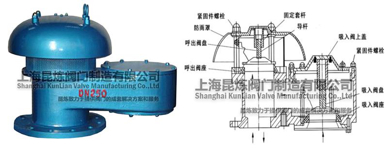 QHXF-88全天候防冻呼吸阀结构图
