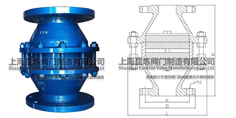 FWL-1管道阻火器结构图