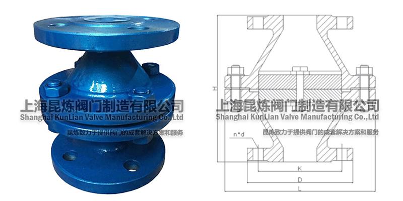 GYW-1防爆管道阻火器结构图