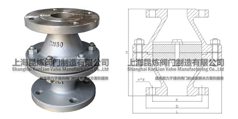 不锈钢阻火器,不锈钢管道阻火器,FWL-1阻火器结构图