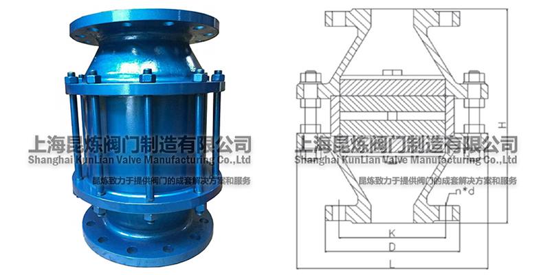 ZHQ-BQ氢气阻火器结构图